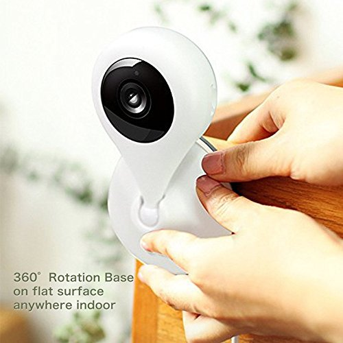 360 Smart Camera 1080P HD Mini WIFI Security Home Camera Surveillance Indoor Wireless IP Camera 1920x1080 150°Wide Angle View, Night Vision, P2P, D606, White