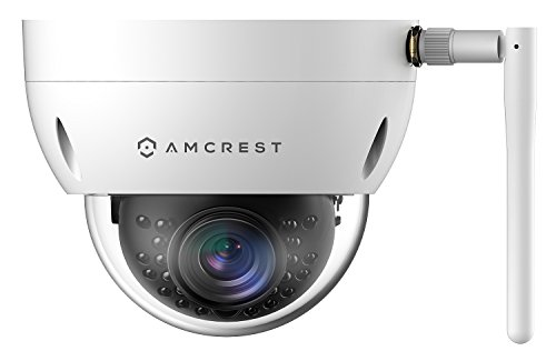 Amcrest ProHD Outdoor 1.3 Megapixel Wi-Fi Vandal Dome IP Security Camera - IP67 Weatherproof, IK10 Vandal-Proof, 1.3MP (1280x960 TVL), IPM-751W (White)