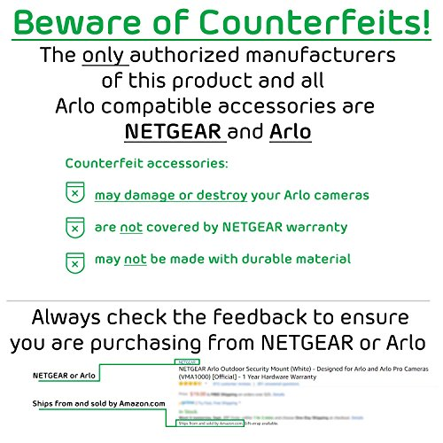 Arlo Pro by NETGEAR Security System with Siren – 1 Rechargeable Wire-Free HD Camera with Audio | Indoor/Outdoor | Night Vision (VMS4130)