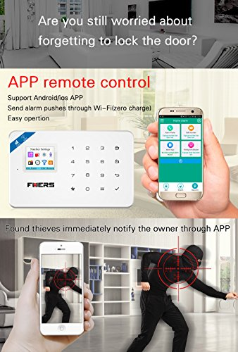 Fuers W18 2.4G WIFI GSM Wireless DIY Home and Business Security System Kit Easy to Install Security Alarm System Support IOS Android Smart Phone APP Control
