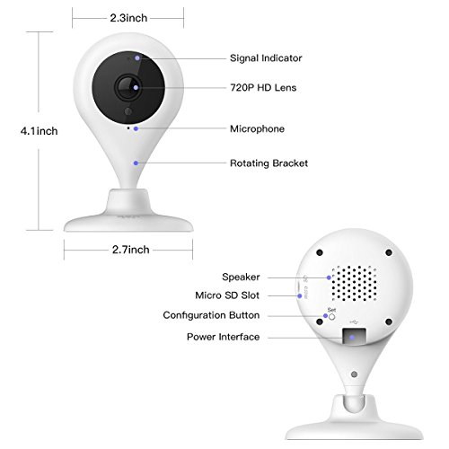 IP Camera D503 HD Wifi Wireless Smart Home Camera Day Night Security Surveillance System 720p HD Face Recognition, Body Determination, Crying Detection