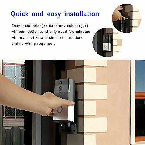 Loras Wi-Fi Video Doorbell, Wireless Doorbell Camera, Battery Powered Home Security Camera, Built-in 8G Card, Motion Detetion, Tamper Alarm, Infrared Night Vision, Two-Way Audio, 18650 Not Included