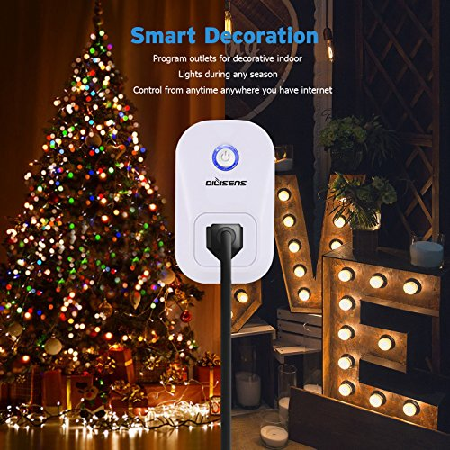 Smart Plug, Alexa Socket Outlet DILISENS Wireless Timing Smart Switch Remote Control Your Smart Home Devices, Wi-FI, No Hub Required, Works with Amazon Echo / Google Home- UL Listed (4 Pack )