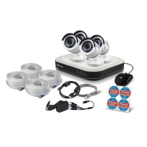 Swann SWDSR-850004-US 8 Channel 1080p Smart Security System with 2TB Hdd & 4 x 1080p Surveillance Cameras