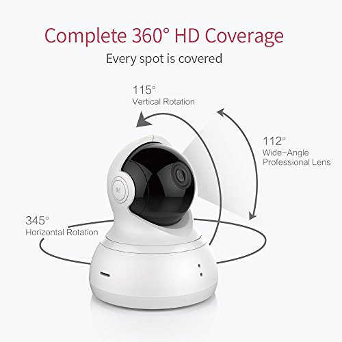 YI Dome Camera, 1080P HD Indoor Cam with Wireless IP Security Surveillance System & Night Vision - White (US Edition)