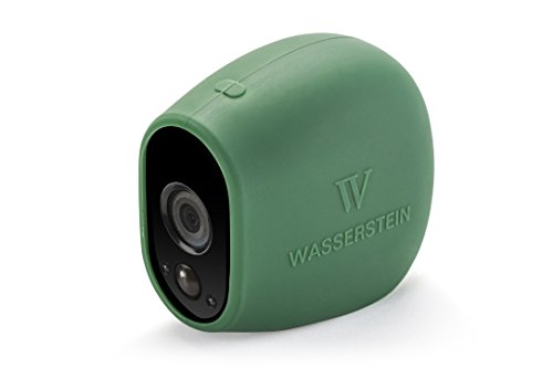 3x Silicone Skins for Arlo Smart Security - 100% Wire-Free Cameras by Wasserstein (3 Pack, Green)
