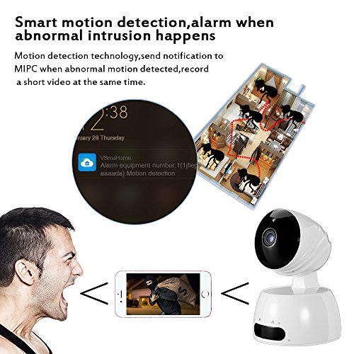 Home Security Surveillance Camer, 1080P WiFi Wireless IP Security Surveillance Camera for Baby /Elder/ Pet/Nanny Monitor with Night Vision Security Camera