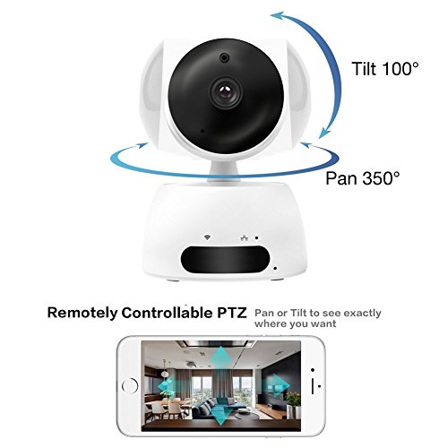 Perflyer HD IP Camera - 720P Wireless IP Camera with Two-way Audio, Night Vision Camera, Smart Security Camera for Family Baby Monitor, Home Surveillance Camera Motion Detection Indoor Camera