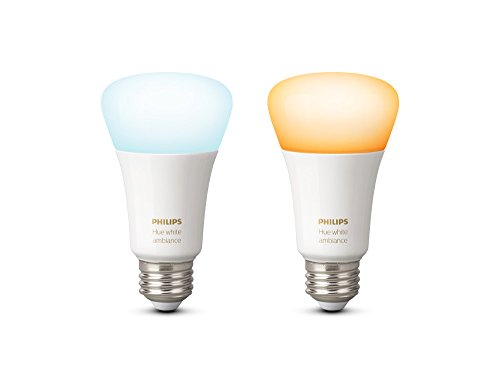 Philips Hue White Ambiance A19 60W Equivalent Dimmable LED Smart Bulb (Compatible with Amazon Alexa, Apple HomeKit, and Google Assistant)