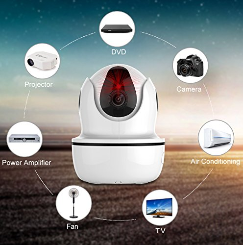Security Camera, MixMart 1080P Smart Home WiFi Wireless IP Camera Remotely Control Household Appliances Day/Night Vision 2 Way Audio (White)