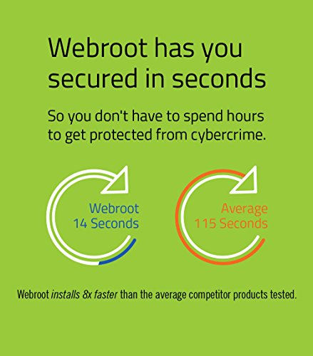 Webroot Internet Security Complete + Antivirus 2017 | PC/Mac Disc | 5 Device | 1 Year Subscription