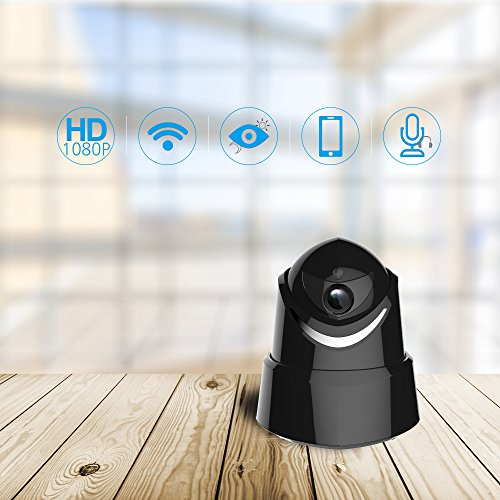 WiFi Home Camera,CrazyFire 1080P Wireless IP Camera,2.0 MP Full HD Smart Indoor Security Surveillance Video Camera,Pet Baby Monitor Night Vision Camera with Two-Way Audio,Pan Tilt, Micro SD Card Slot