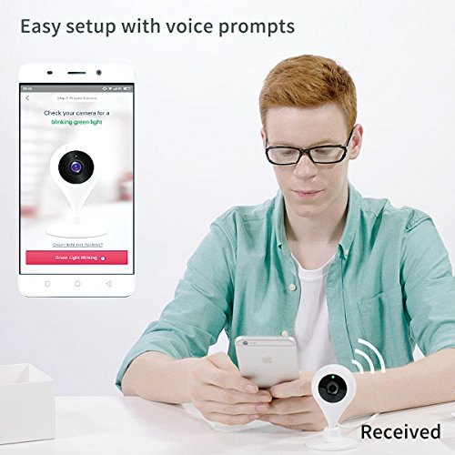 360 Home Security Camera IP Wireless Camera Surveillance System with Motion Detection Smart Camera - 720P White (US Edition)