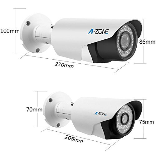 A-ZONE 16 CH 1080P DVR AHD Security Camera System W/ 12x HD 960P 1.3MP Fixed Camera Home Surveillance System & 4x HD 1.3MP Varifocal Camera IR 2.8-12mm Lens Camera,Including 2TB HDD