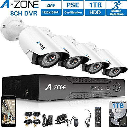 A-ZONE 8 Channel 1080P DVR