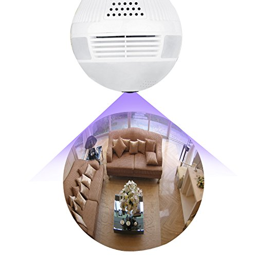 BESDER 960P WiFi IP Security Camera Panoramic Bulb Camera 360 Degrees Fisheye Lens Home Security System Baby & Pet Monitor Two Way Talking Motion Detection Email Photo Wireless Video Security Cameras