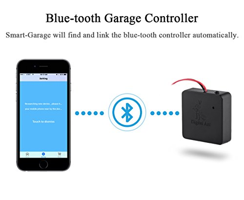 Digital Ant Smart Garage Opener Bluetooth Remote Garage Opener Compatible with iOS or Android Smart Phones, 16-Bit AES Security Encryption, Secure and Easy to Use.(1, Bluetooth Black)