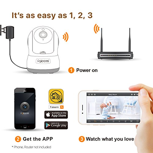 Faleemi 720P Pan/Tilt Wireless WiFi