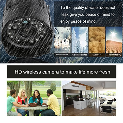 LESHP AHD 720p Video Security Camera System High Definition Smart Outdoor Indoor Home Motion Detection DVR with Night Vision Easy Remote Access Without Hard Disk Drive(AHD720P)