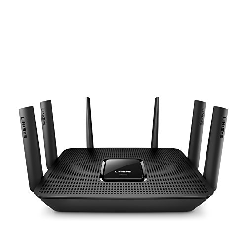 Linksys Max-Stream AC4000 MU-MIMO Wi-Fi Tri-Band Router, Works with Amazon Alexa (EA9300)