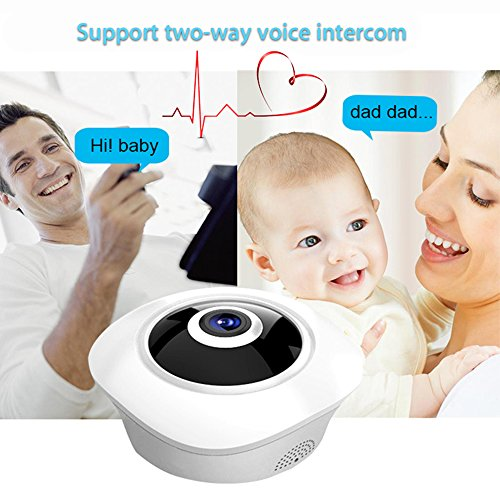 Security Dome Camera, 360° WiFi 3MP Wireless Surveillance System 1080p HD Panoramic Night Vision IP Camera