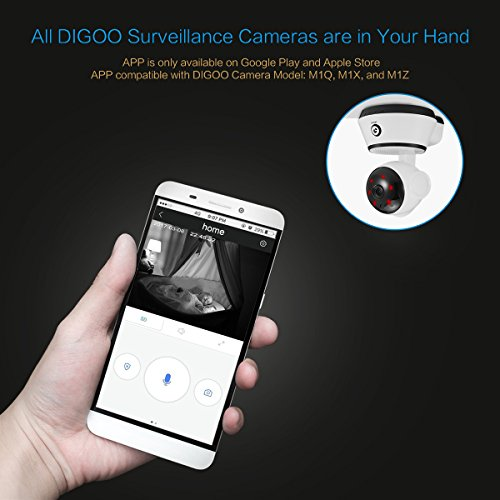 Security Surveillance System, DIGOO-M1Z 1080P Video Home Security Camera, Wireless Wifi IP Monitor Camera, with Pan/Tilt/Zoom Function, Night Vision, Motion Detection, ONVIF Support, Remote Control