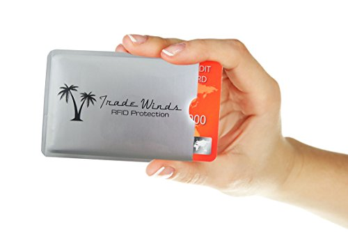 Trade Winds Travel Gear Family Pack RFID Blocking Security Sleeves -Set of 20 Credit Card & 4 Passport Protectors