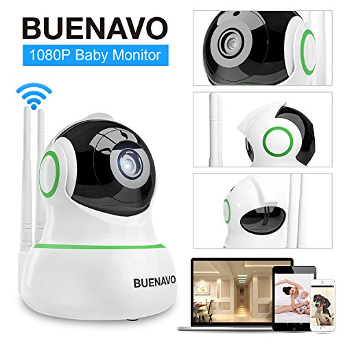 [UPGRADED] BUENAVO 360° Home Wireless IP Camera 1080P HD, Two Way Talk Smart Indoor Security Surveillance Camera for Baby/ Elder/ Pet Nanny Monitor, Infrared Night Vision, Motion Detection