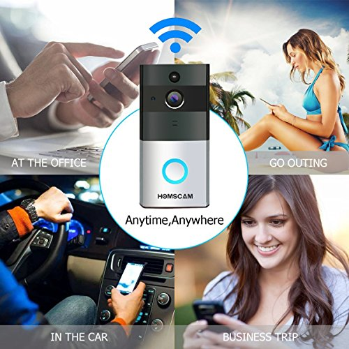Video Doorbell, HOMSCAM Wireless Door