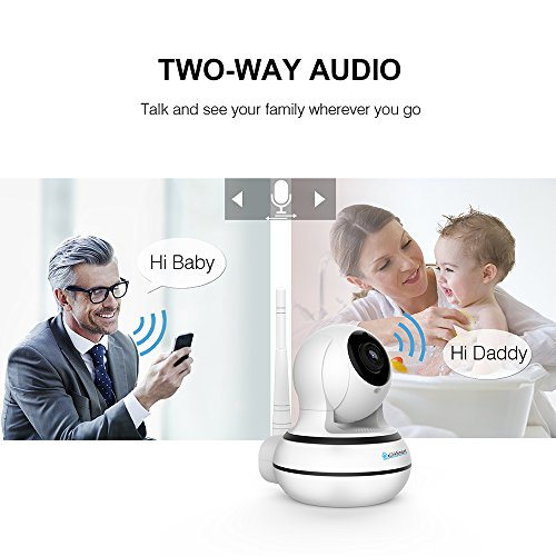 WiFi Camera Wireless Security Camera Pan Tilt Zoom Home Video Monitor eLinkSmart Two Way Audio IP Camera Recording 960P HD Night Vision Motion Detection
