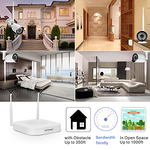Wireless Security Camera System,Safevant Full-HD