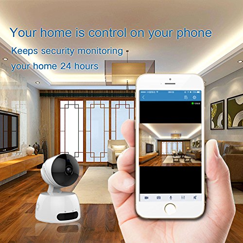 Dachang 720P HD Wireless IP Camera Pan/Tilt with Night Version /Two-Way Audio /Motion Detection /Home Security Monitoring