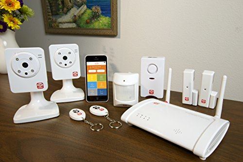 Home8 Oplink Video-Verified TripleShield Alarm System (2-Cam) - Wireless Home Security System with IP-Cameras, Alarm Sensors, Indoor Siren, and Free Basic Service, featuring Amazon Alexa Integration