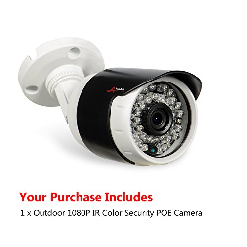 ANRAN IP POE Security Camera Full HD 1080P Home Bullet Indoor Outdoor Video Surveillance CCTV Network Camera 3.6MM Lens Power Over Ethernet IR Night Vision Waterproof IP66 Motion Detection