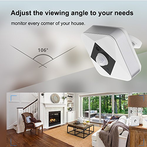 Forcovr Home Security Camera System With PIR Infrared Detection, Wall Mount, HD Video, Two-Way Audio Battery-Powered Surveillance Camera WIFI Connection for Your Smartphone ¡­