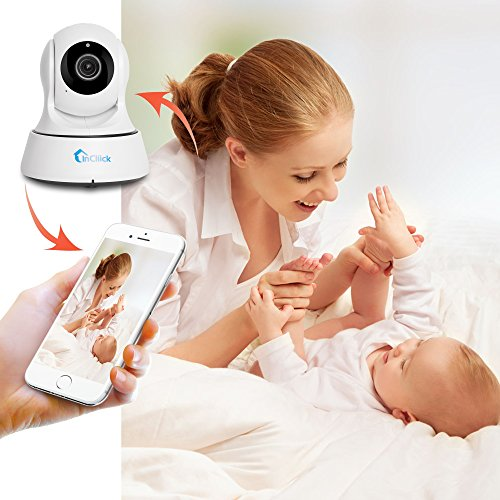 InCliick X3 Pro Wireless Security Camera, 960P IP Camera Home Surveillance Camera Pan Tilt with Two-Way Audio, Night Vision, Motion Detection, Baby Pet Video Monitor Nanny Cam, iOS Android APP