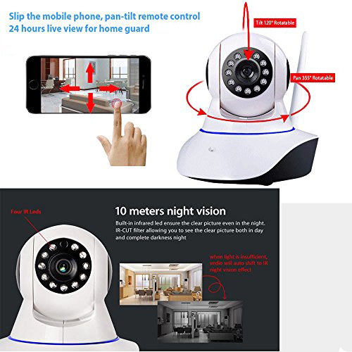 LEFTEK Security Cameras 960P WiFi