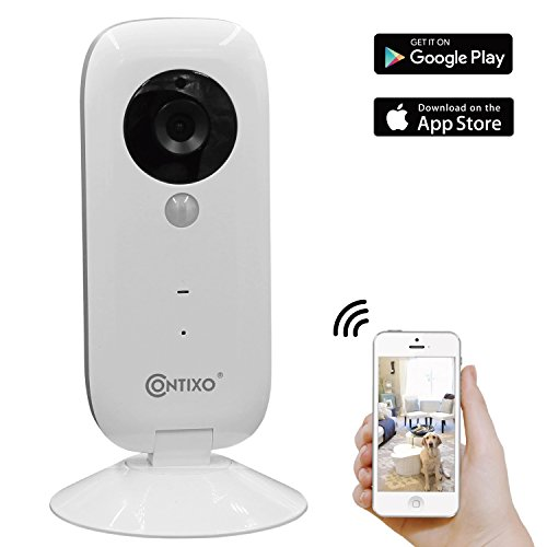 VALENTINES SALE! Contixo E1 Baby/Security Surveillance HD 720P Wifi Camera W/Full App Control, Night Vision 2-Way Audio, 100° Field View, Motion Detection & Smart Alert - Best Gift