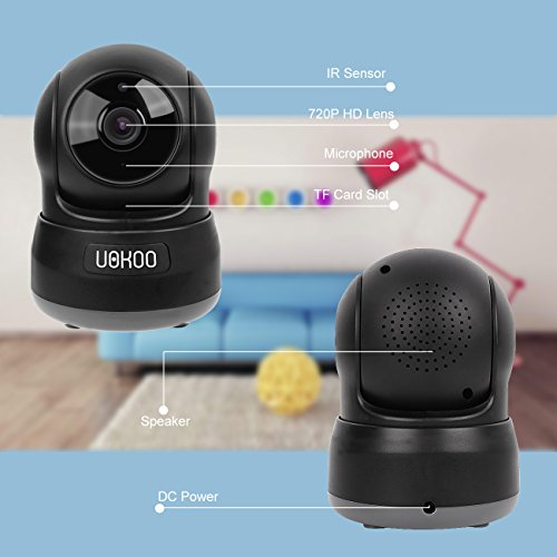 Wireless IP Camera, Home Security Surveillance Video Camera with Two Way Audio,720P Pan/Tilt Night Vision Baby Monitor, Nanny Cam