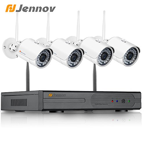 Jennov 4CH 1080P WiFi Wireless Security Camera System With Audio