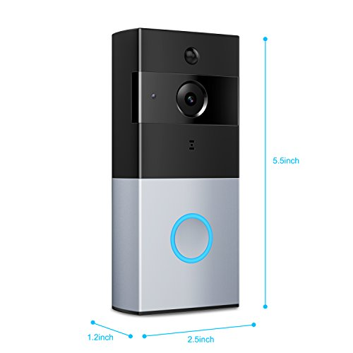 XVIM Wi-Fi Video Doorbell Camera Security System with Motion Sensor and Smartphone Monitoring