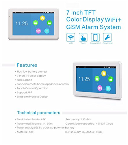 Kerui K7 Wireless 2.4G WIFI/GSM