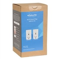 Mivalife Smart Plug 2-pack Add-on, Control Your Devices from Anywhere, featuring Amazon Alexa Integration (Requires a Home8/Oplink/Mivalife Smart Hub)