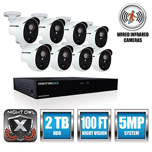 Night Owl Security Security System Home Security System, White (XHD502-88P)