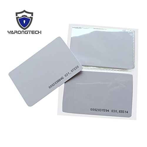 Proximity RFID Card 125KHZ EM4100 Read Only ID Smart Door Entry Access Control Plastic Card (pack of 10) -YARONGTECH