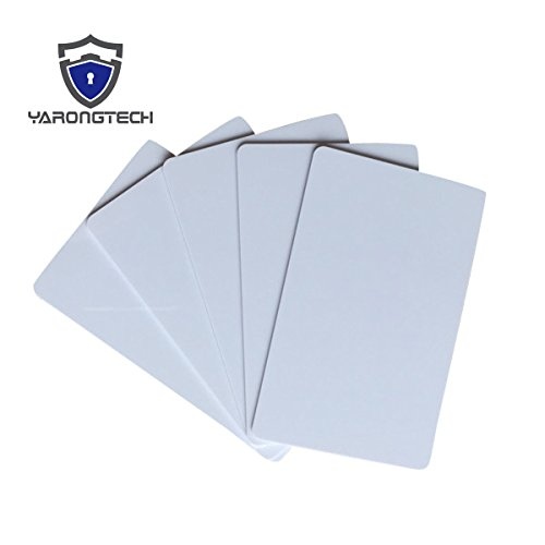 YARONGTECH MIFARE Classic 1K Sublimation Printable Blank White Smart RFID Plastic Card for Access control (pack of 200)