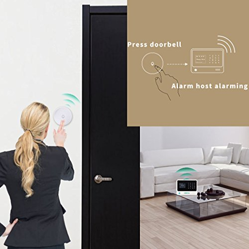 Golden Security GS-A01 Wifi Home & Besiness Security Wireless Sensor Alarm System ,App Controlled by Android & iOS Smartphone ,Compatible with Amazon Alexa.