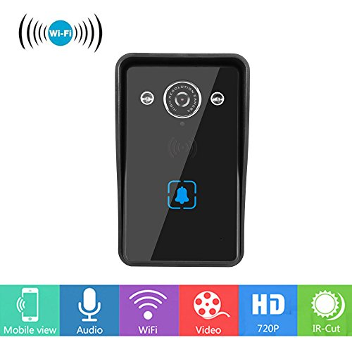 HD camera Doorbell,Wireless Wi-Fi Video Doorbell, Not Battery Powered,Smart Motion Detection, Tamper Alarm, Infrared Night Vision,Waterproof,Two-Way Audio.Black