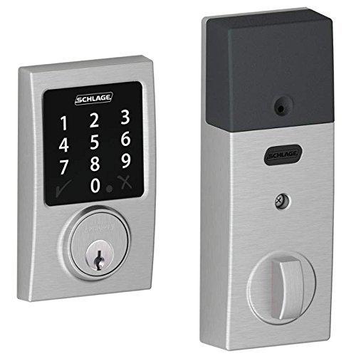 (New Model) Schlage Connect Century Touchscreen Deadbolt with Z-wave Technology and Extra Key (Satin Chrome)