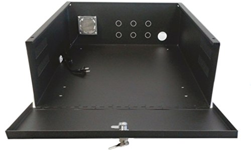 Safety Security Locking Case for DVR & Other Electronics, 18 x 18 x 5 inch, Fan, Heavy Duty, 16 Guage